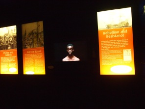 Videos featuring actors capture the horror of the Middle Passage.